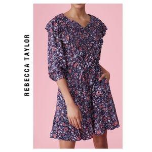 NWT Rebecca Taylor La Vie Toile Fleur V-neck Dress